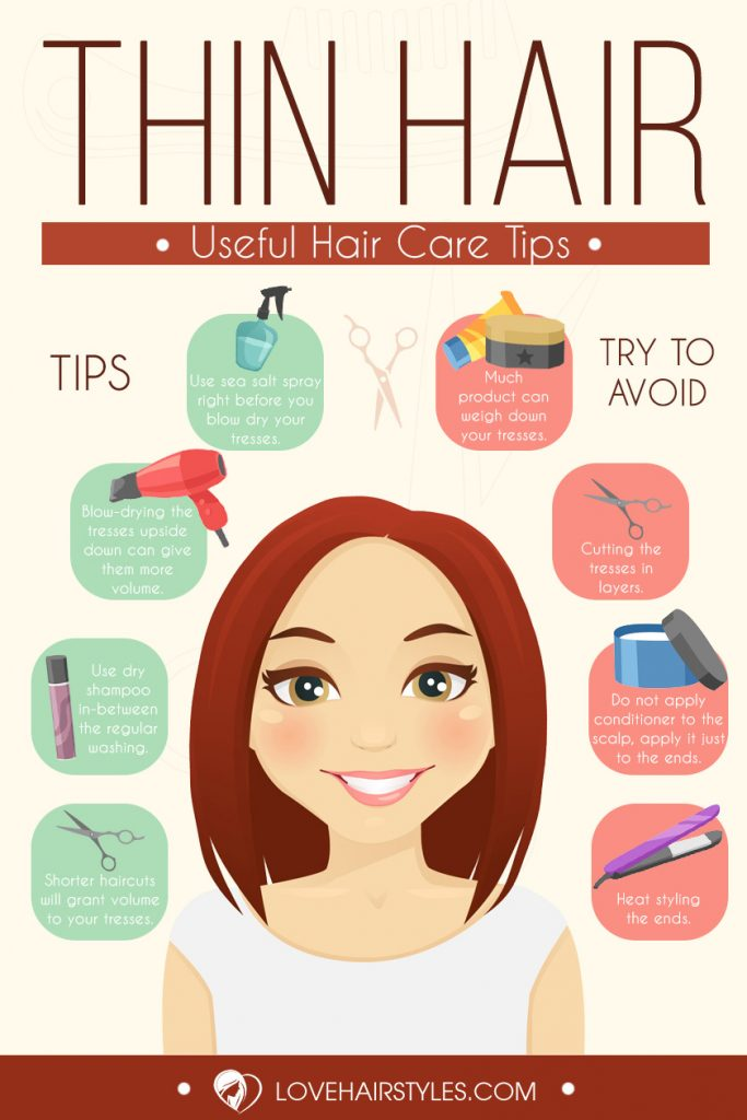 Incredibly Cool Hairstyles For Thin Hair Infographic