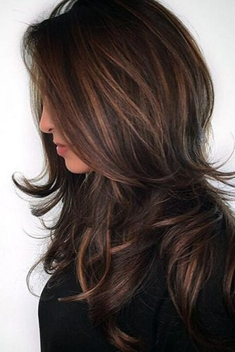 Chocolate and Dark Brown Balayage Hair