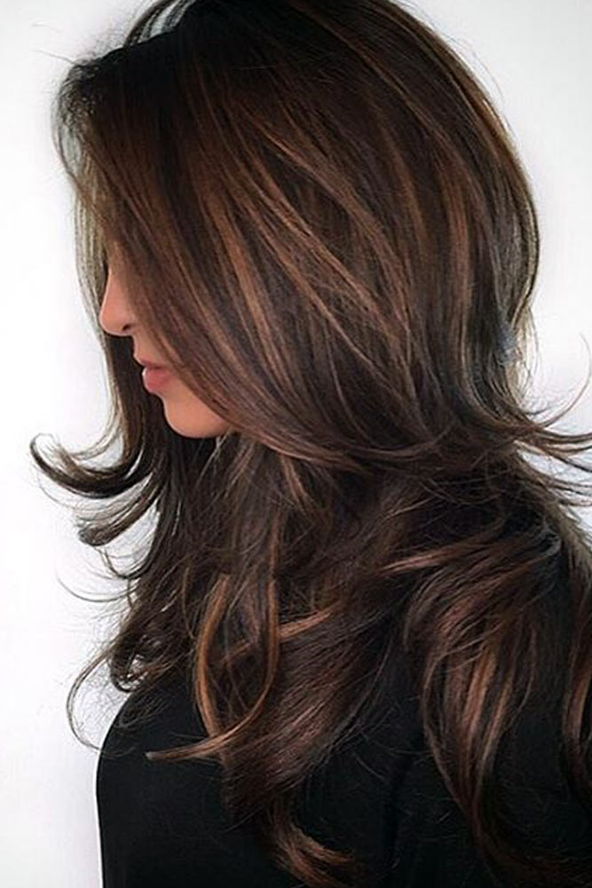 Chocolate and Dark Brown Balayage Hair