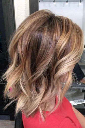 Blonde, Caramel, and Brown Tones Balayage