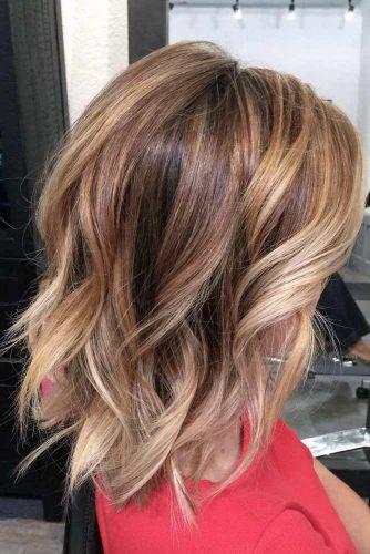 Blonde, Caramel, and Brown Tones Balayage