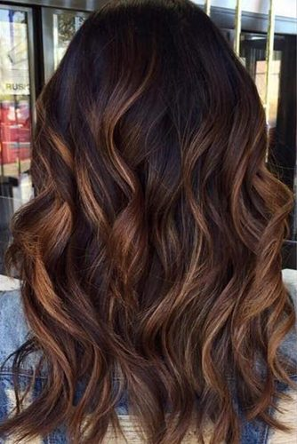 Caramel Toned Balayage Hair