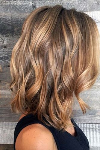 Caramel Balayage Highlights for Brown Hair