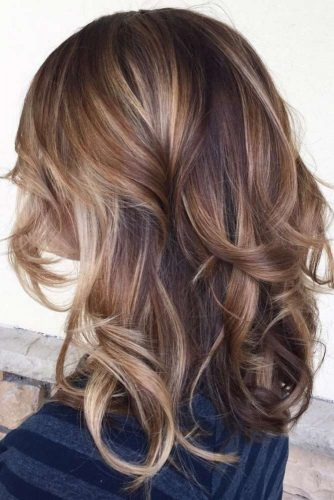 Mixed Balayage on Dark Brown Hair