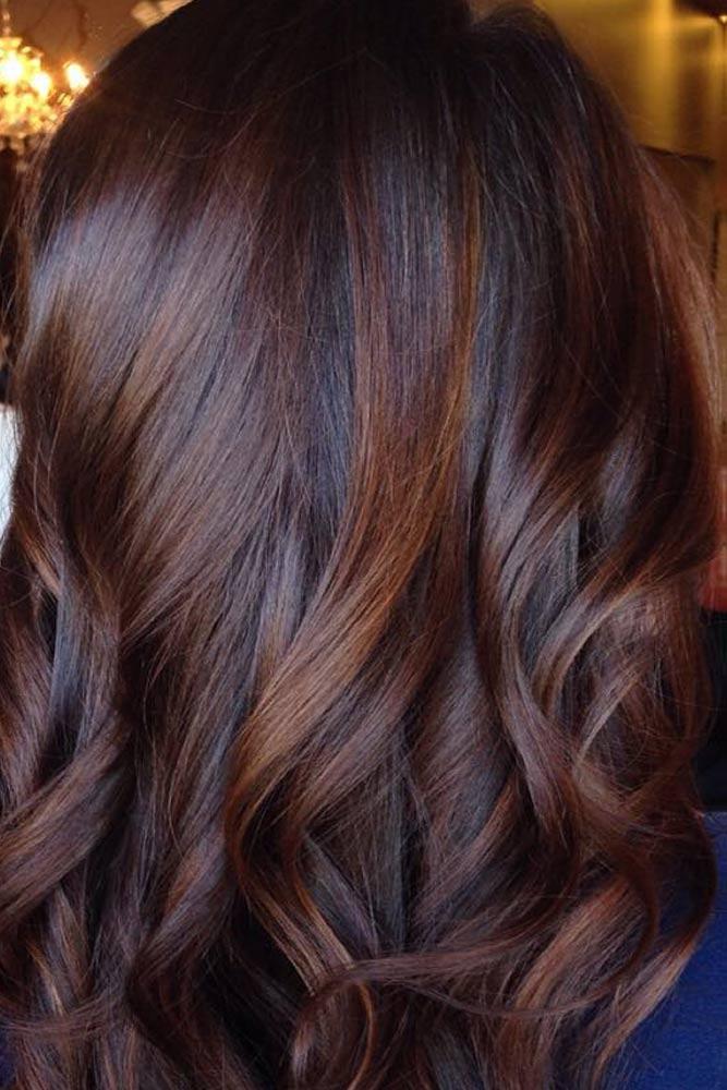 Natural Chocolate Wavy Balayage Hair