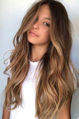 Beach Waves For Long Highlighted Hair #balayage