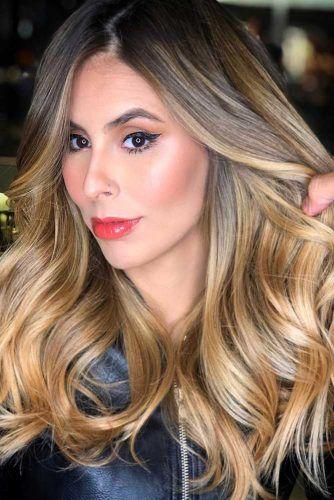 Golden Honey Blonde Balayage #blondehair #balayage #brunette