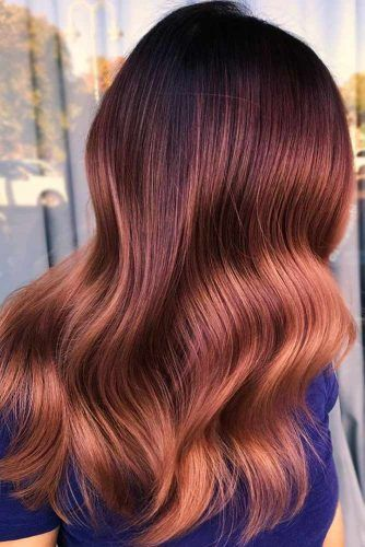 Orange Red, Chestnut, And Chocolate Colors For Long Hair #redhair #balayage