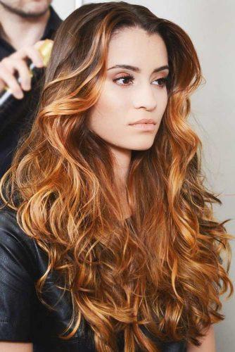 Warm Copper #balayage #brunette #redhair