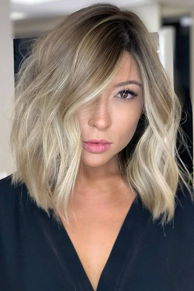 Dark Blonde Hair With Platinum Pieces #balayage