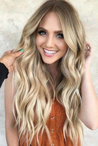 Long Layered Hair With Light Balayage #balayage #blondehair