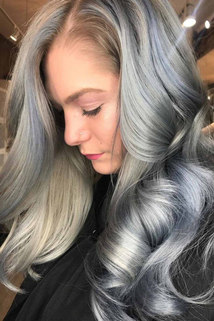 Balayage Style For Long Gray Hair