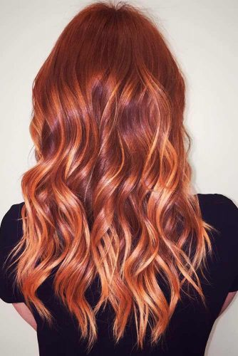 Orange Red, Chestnut, and Chocolate Colors for Textured Long Hair