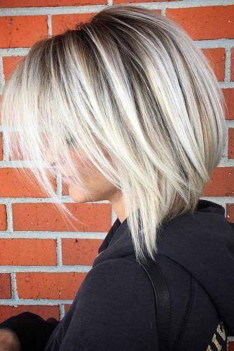 Platinum Blonde Balayage Lob Straight #balayage