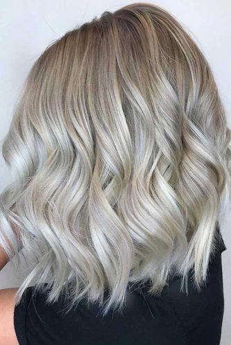 Balayage Lob Blonde Silk #balayage