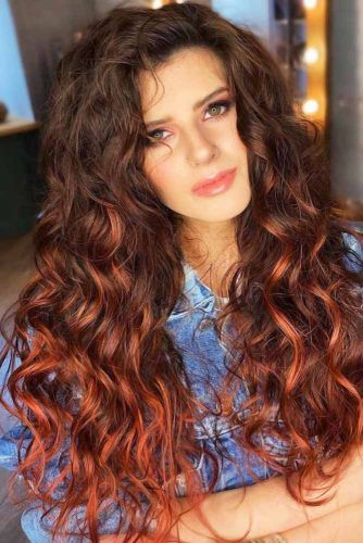 Indian Red And Brown Hair Color #balayage
