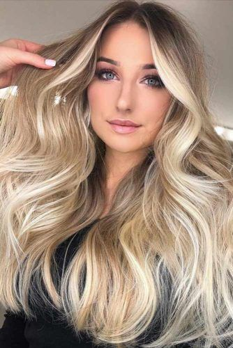 Dark To Light Brown Sombre With Blonde Accents #blondehair #balayage