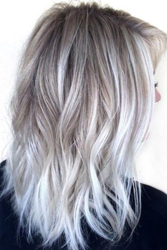Silver and Blonde Balayage Hairstyles