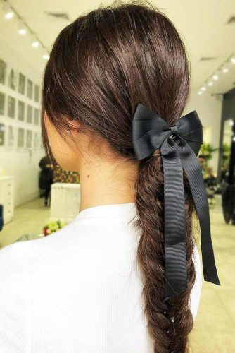 Braids With Ribbons Fishtail #braids #longhair