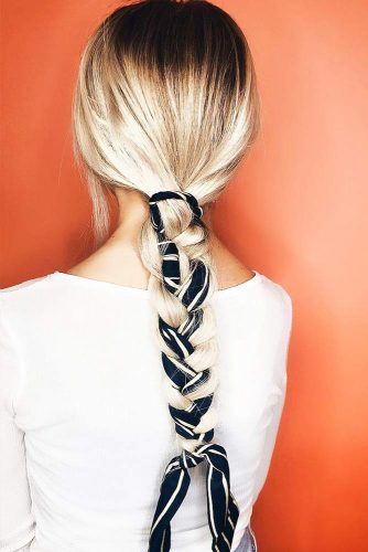 Braids With Ribbons French #braids #longhair