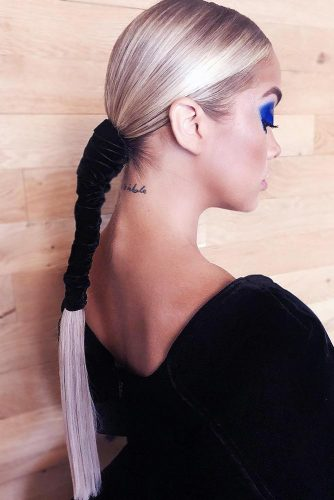 Sleek Cool Low Ponytails #ponytail #longhair
