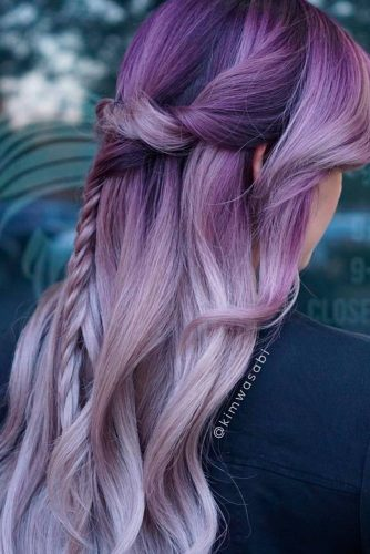 Braided Hairstyles for Your Purple Hair