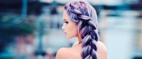 12 Braided Hairstyles for Your Purple Hair