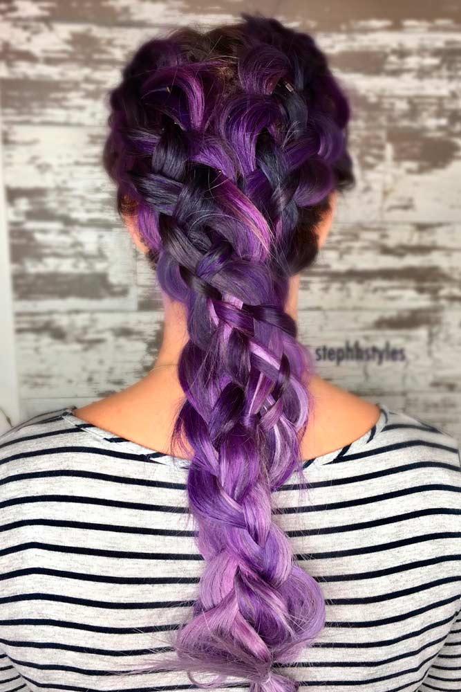 Purple Dutch Braids Mixes picture3