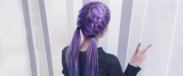 24 Braided Hairstyles for Your Purple Hair