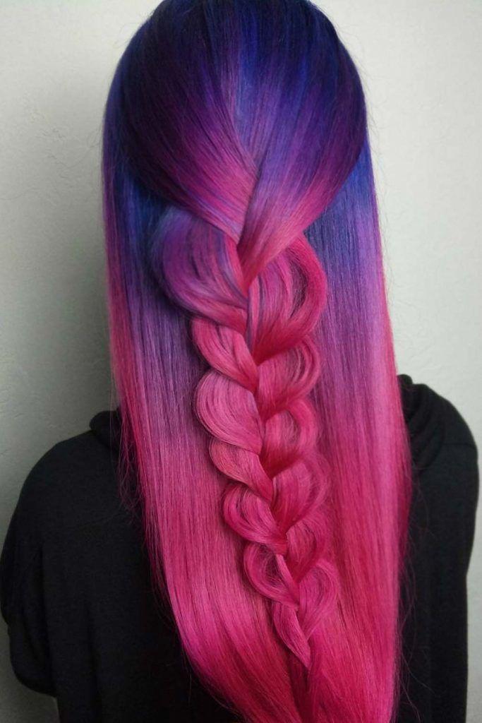 Sweet Colored Purple Braids #braidedhairstyles #purplehair