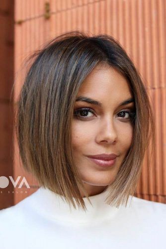 Perfect Bob Hairstyles With Highlights #bluntbob #bobhaircut #haircuts