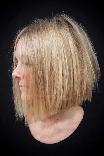 Straight Blonde Bob For Stylish Girls #bluntbob #bobhaircut #haircuts