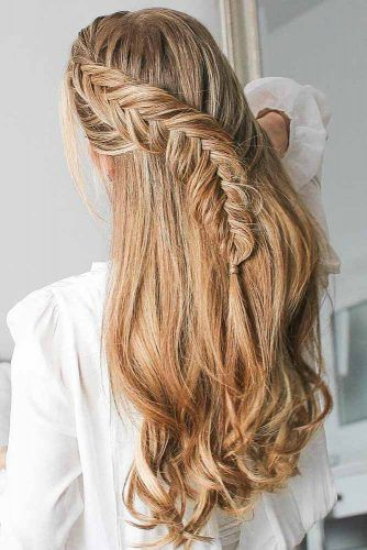 Fishtail Braids For Long Hair #halfup #braids