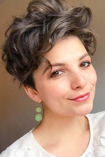 Pixie Cut For Your Short Wavy Hairstyles Voluminous Brown Color