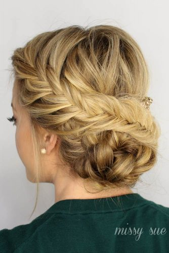 Fancy Fishtail Updos for Long Hair