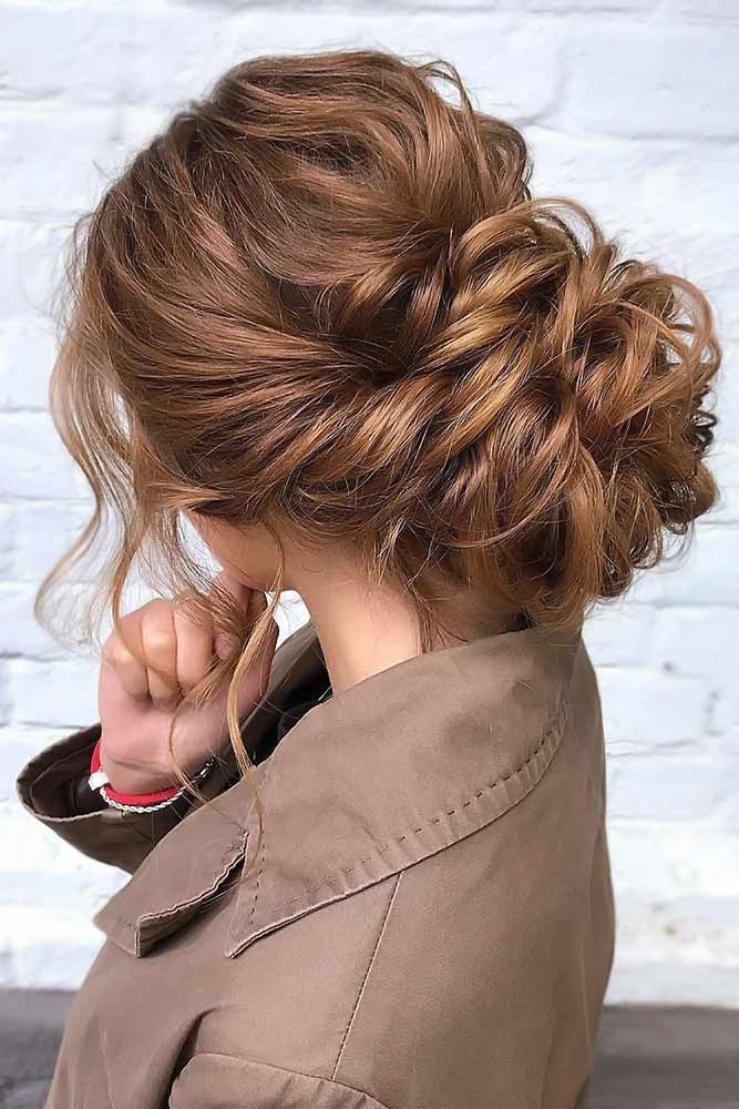 Chignon Styles Brown #updo #longhair