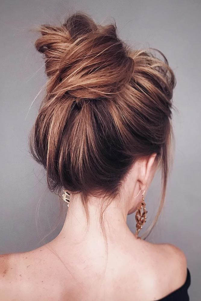 Long Hairstyles With Bun #longhair #updos
