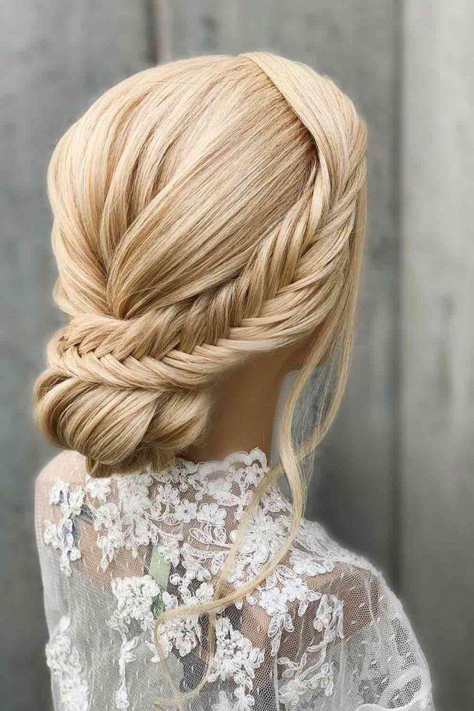 Fishtail Braided Hair Updos #fishtail #braids
