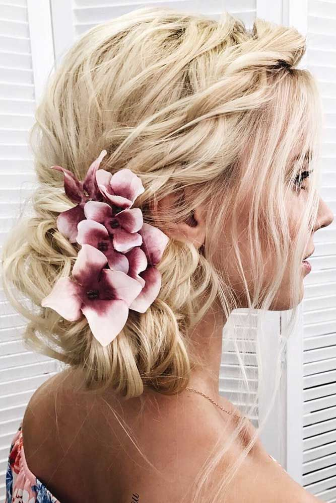 Flowered Hairdos #longhair #updos