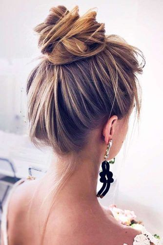Exquisite High Bun For Long Hair #updo #bun #longhair