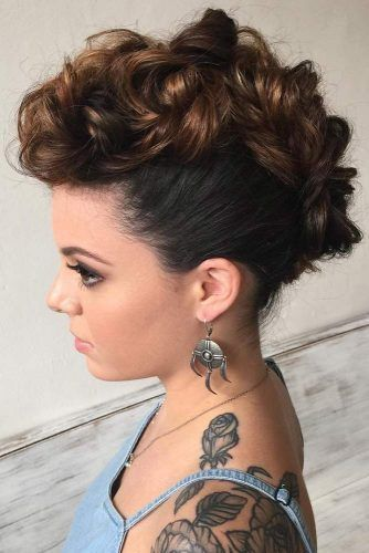 Mohawk Twisted Updos #updo #braids