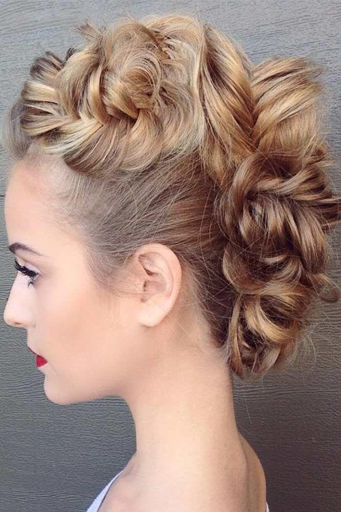 Mohawk Updos Blonde #longhair #updos