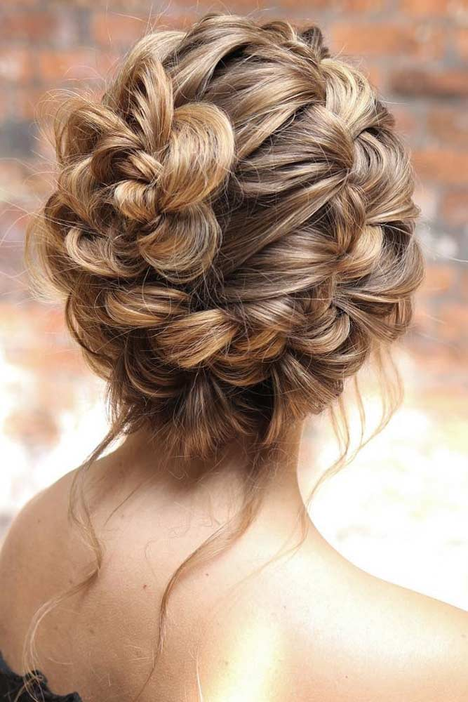 Fascinating Rose Braid Updo #updo #braids