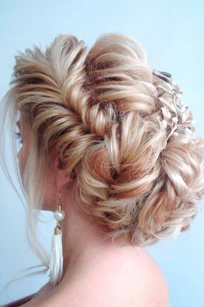 Fishtail Braid Into Bun Hairstyle #voluminousbraid