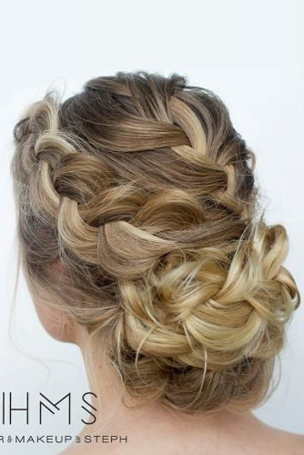 Double Braided Updos for Medium Length Hair