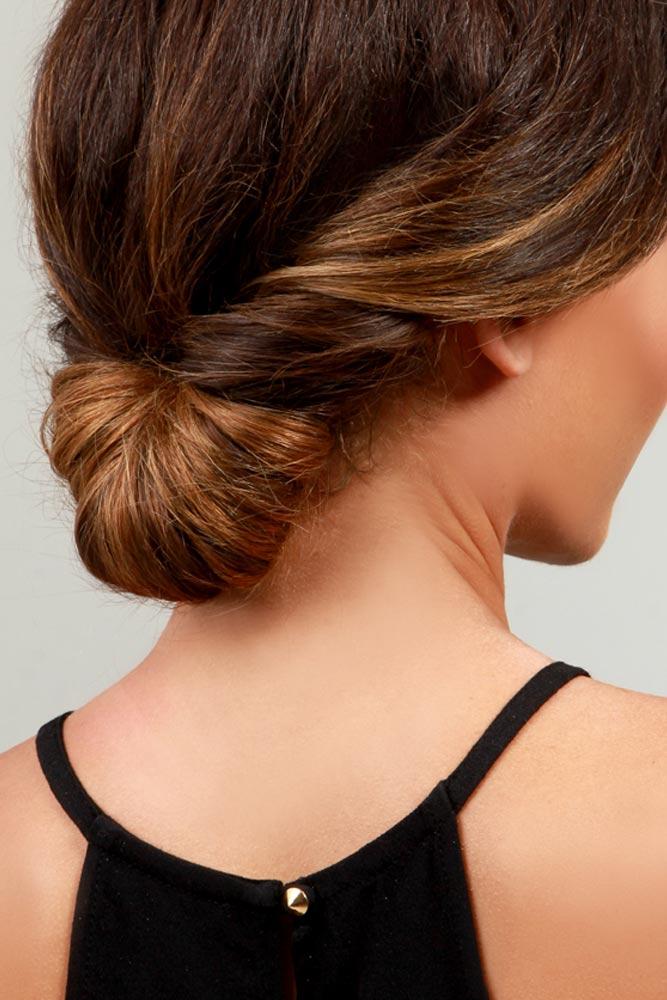 Elegant Twisted Bun for Medium Hair
