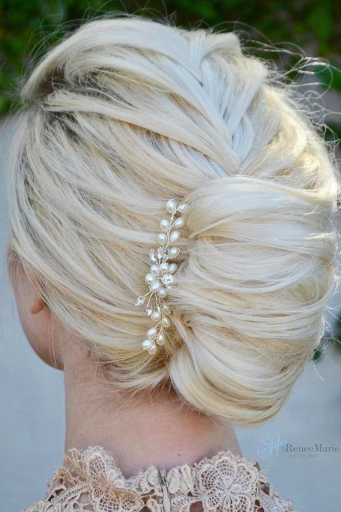 Create Lovely French Twist Blonde #mediumhair #updos