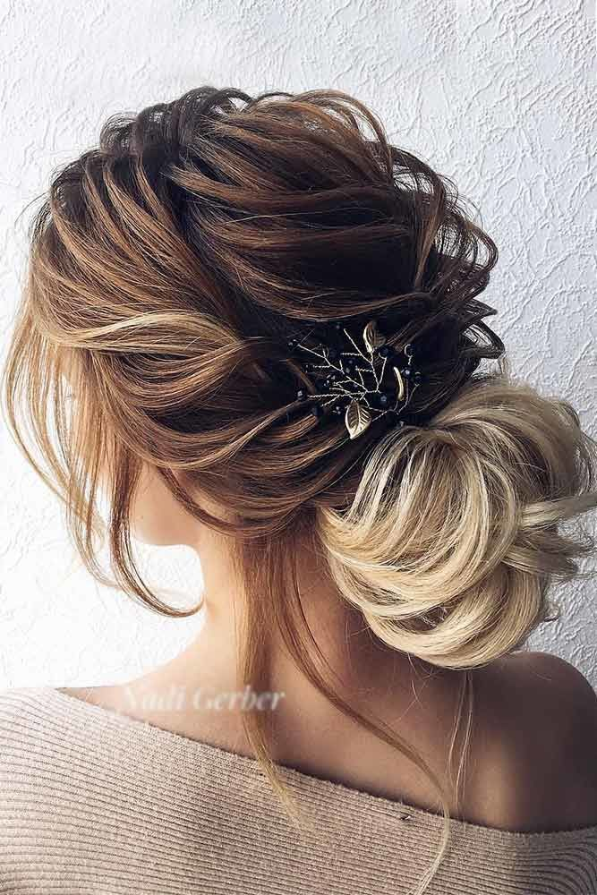Low Updos With Accessories Ombre #mediumhair #updos