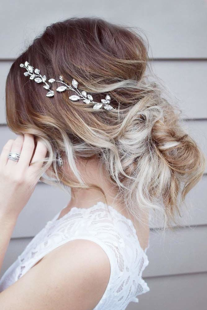 Soft, Low Curly Updo #mediumhair #updos