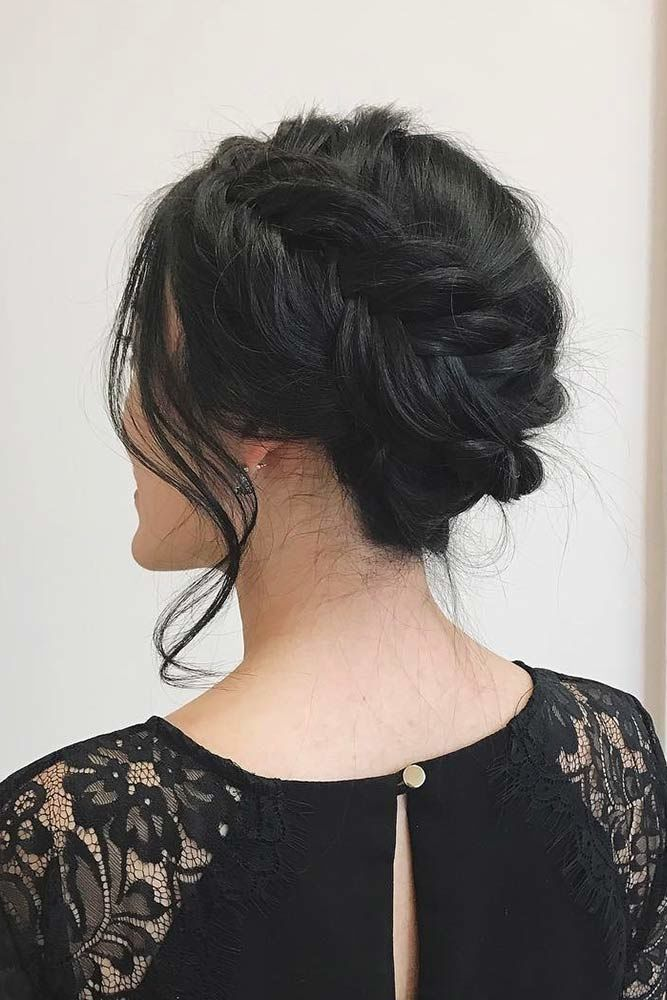 Beautiful Messy Updos With Side Braids Black #mediumhair #updos